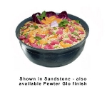Bon Chef 9131P 4.06-Gallon Tulip Bowl, Aluminum/Pewter-Glo
