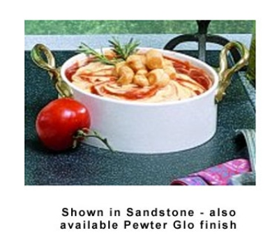 Bon Chef 9143S BLK 10.38-qt Classic Salad Dressing Crock , Aluminum/Black