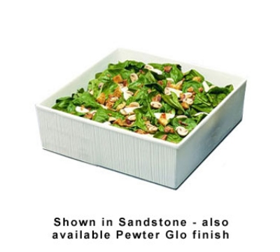 Bon Chef 9500P 7.25-Gallon Space Saver Salad Bar Bowl, Aluminum/Pewter-Glo