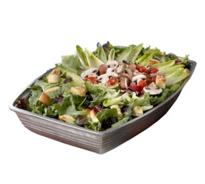Bon Chef 9506P 19.5-in Oblong Salad Bar Bowl, Aluminum/Pewter-Glo