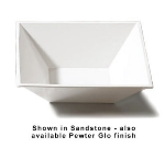 """Bon Chef 9509S WH 12-1/8"""" Flare Bowl, Aluminum/White"""