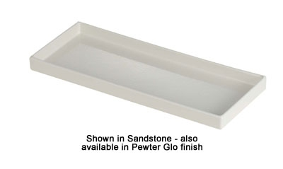 Bon Chef 9530P Rectangle Tray, 6 x 15 x 1-in, Pewter-Glo