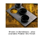 Bon Chef 960039013S BLK Custom Cut Tile Tray for (3) 9013, Aluminum/Black