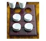 Bon Chef 960069140P Custom Cut Tile Tray for (6) 9140, Aluminum/Pewter-Glo