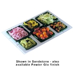 Bon Chef 960095023P Custom Cut Tile Tray for (3) 9502 & (3) 9503, Aluminum/Pewter-Glo
