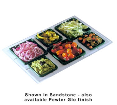 Bon Chef 960095023S BLK Custom Cut Tile Tray for (3) 9502 & (3) 9503, Aluminum/Black