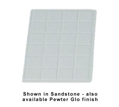 "Bon Chef 960113P 1/3-Size Tile Tray, 13.5 x 9-7/16""., Aluminum/Pewter-Glo"