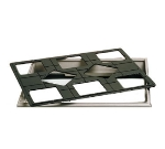 "Bon Chef 960589502S BLK 27"" Custom Cut Tile Tray for (8) 9502, Aluminum/Black"