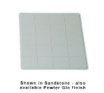 Bon Chef 9606S WH 1-1/2-Size Tile Tray, 19.5 x 21.5-in, Aluminum/White