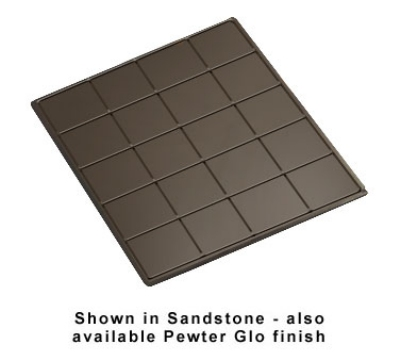 Bon Chef 96066051S BLK 1-1/2-Size Tile Tray for 6051, 19.5 x 21.5-in, Aluminum/Black