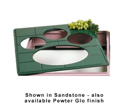 Bon Chef 96062107S WH 1-1/2-Size Tile Tray for 2107, 19.5 x 21.5-in, Aluminum/White