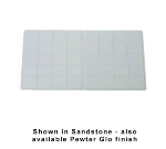 Bon Chef 9608S WH Triple Size Tile Tray, 41 x 21.5-in, Aluminum/White