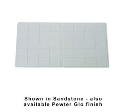 """Bon Chef 9608S BLK Triple Size Tile Tray, 41 x 21.5"""", Aluminum/Black"""