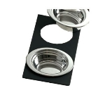 Bon Chef 961025 BLK Single Size Tile Tray for (2) 5203, Black