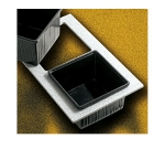 Bon Chef 961029501 BLK Single Size Tile Tray for (2) 9501, Black