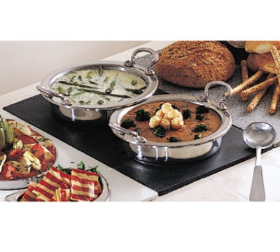 Bon Chef 961040 BLK Single Size Tile Tray for (2) 5211, Black