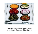 Bon Chef 963069202S BLK Single Size Tile Tray For (6) 9202, Aluminum/Black