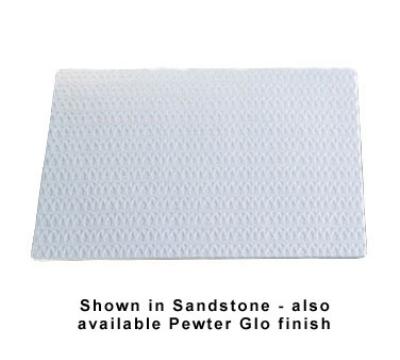 """Bon Chef 9632S BLK Double Size Tile Tray, 27 x 21.5"""", Trellis, Aluminum/Black"""