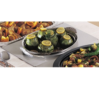 Bon Chef 966015 Full Size Tile Tray w/  Cutout for 2278, Stainless Steel