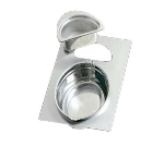 Bon Chef 966020 Full Size Tile Tray w/  Cutout for (1) 2284 & (1) 5202, Stainless Steel
