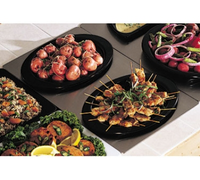 Bon Chef 966025 Full Size Tile Tray w/  Cutout for (2) 5203, Stainless Steel