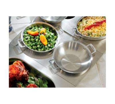 Bon Chef 966051 Custom Cut Tile Tray w/  Cutouts for (2) 60014, Stainless