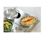 Bon Chef 966052 Custom Cut Tile Tray w/  Cutouts for (1) 60002 & (1) 60005, Stainless