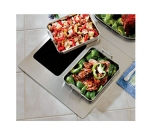 Bon Chef 966150 Custom Cut Tile Tray w/  Cutouts for (2) 60013, Stainless