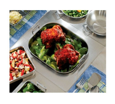 Bon Chef 966151 Custom Cut Tile Tray w/  Cutout for (1) 60010, Stainless