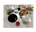 Bon Chef 966250 Custom Cut Tile Tray w/  Cutouts for (2) 60015 & (2) 60009, Stainless
