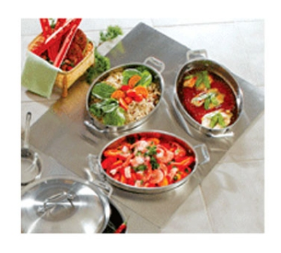 Bon Chef 966251 Custom Cut Tile Tray w/  Cutouts for (3) 60002, Stainless