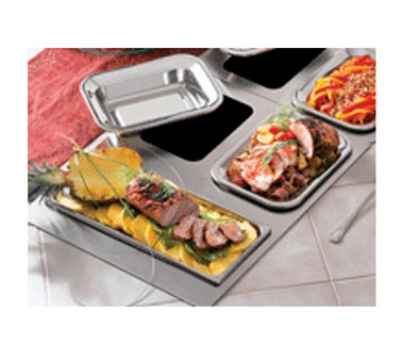 Bon Chef 966253 Custom Cut Tile Tray w/  Cutouts for (2) 5220 & (1) 5223, Stainless