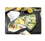 Bon Chef 9666S BLK Custom Cut 1-1/2 Tile for (2) 70006 & (1) 70009, Aluminum/Black