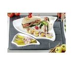 Bon Chef 9667P Custom Cut 1-1/2 Tile for (2) 70006 & (1) 70004, Aluminum/Pewter-Glo