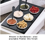Bon Chef 960069202P Custom Cut Tile Tray for (6) 9202, Aluminum/Pewter-Glo