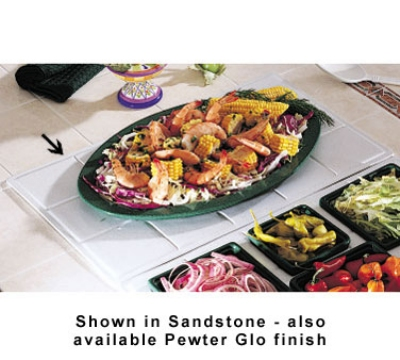 Bon Chef 9600H5099S WH Custom Cut Tile Tray for 5099, Aluminum/White