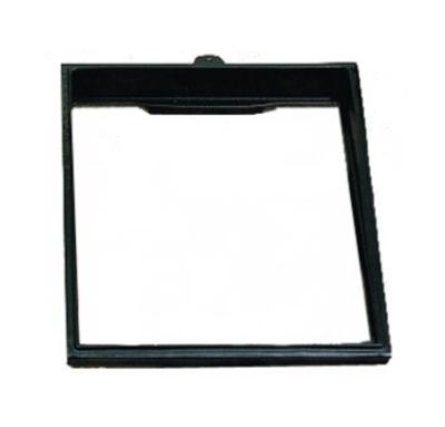 "Bon Chef 9706S BLK 1-1/2-Size Riser, 19.5 x 21-5/8"", Aluminum/Black"