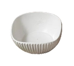 "Bon Chef 9912P 8"" Square Ribbed Bowl, Aluminum/Pewter-Glo"