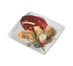 "Bon Chef 9918S WH Ribbed Platter, 10 x 10"" Aluminum/White"