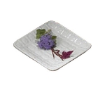 "Bon Chef 9922S WH Circle Embossed Platter, 5.5 x 5.5"", Aluminum/White"