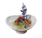 "Bon Chef 9926P Pedestal Compote, 9.5 x 11.25 x 4.75"", Pewter-Glo"