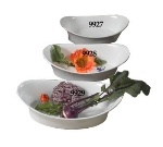 Bon Chef 9927S WH 10-in Oval Au Gratin, White