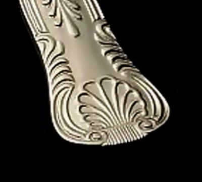 Bon Chef S2716S Demitasse Spoon, Kings, Silverplated