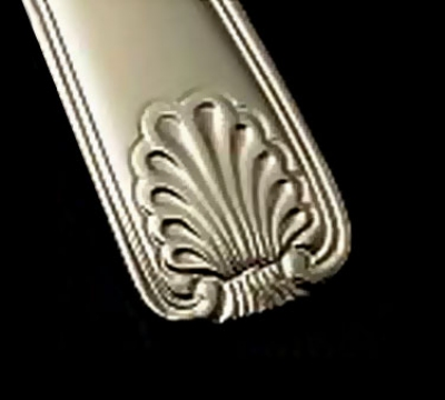 Bon Chef S2003S Soup Dessert Spoon, Shell, Silverplated