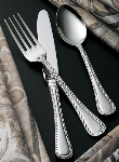 "Bon Chef SBS407S Salad Dessert Fork, 7.16"", Amore, Silverplated"