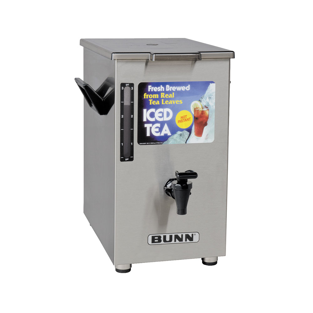 Bunn-o-matic 03250.0003 TD4 Iced Tea Dispenser, Square, 4 Gallon, Solid Lid
