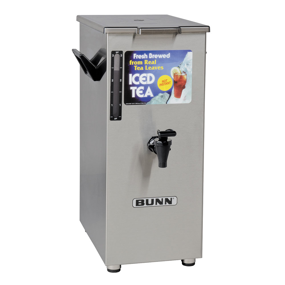 Bunn 03250.0004 TD4T Iced Tea Dispenser, Square, 4 Gallon, Solid Lid, Tall