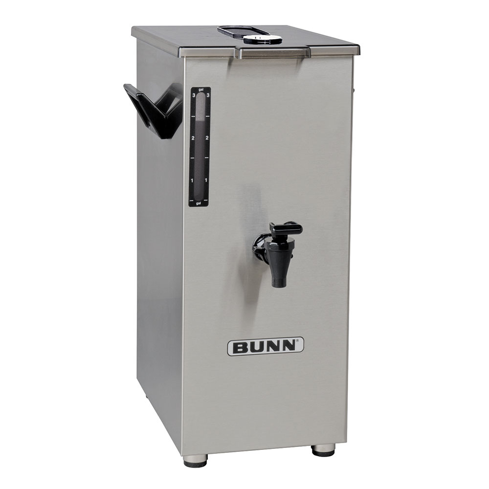 Bunn TD4T-0018 4-Gallon Square Iced Tea Dispenser, Brew Thru Lid, No Decal