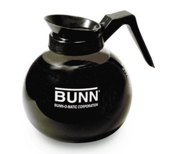 BUNN-O-Matic 42400.0101 Glass Coffee Decanter, 64 oz, Black Pourer/Handle
