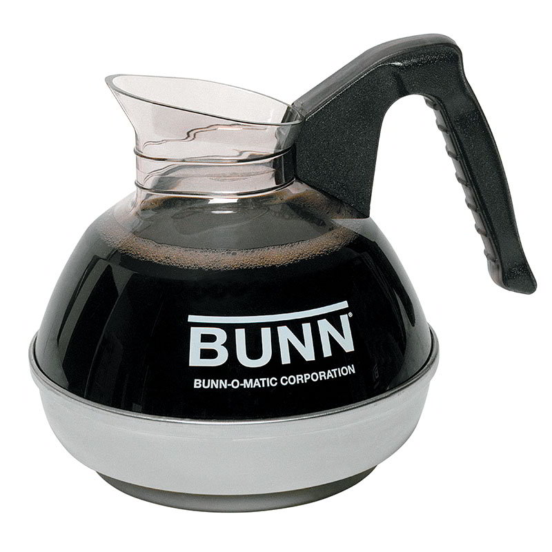 Bunn 06100.0101 Easy Pour Coffee Decanter W/ SS Base, Black Handle
